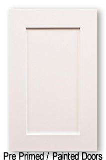 Pre-Primed Shaker Style Wood Kitchen Cabinet Doors Starting At $21.58