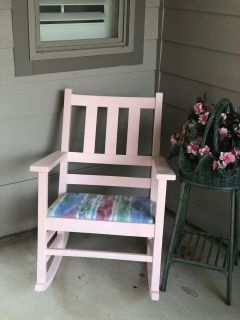 Antique rocking chair. Purchased form Antique mall but did not match once home.