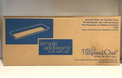 Pampered Chef Simple Additions Platter in Cranberry New