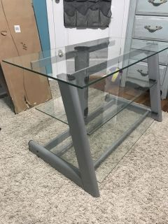Euc Glass BellO entertainment tv stand...$70 41 x21.5 paid $299 for this. Very nice. PPU in Pace Only