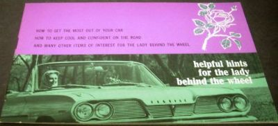 Find 1962 Pontiac GM Brochure Helpful Hints For The Lady Behind The Wheel Convertible motorcycle in Holts Summit, Missouri, United States, for US $19.63