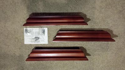 """Floating shelves 18 """" long x 5"""" wide cherry wood $5"""