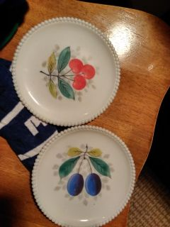 Old milk glass dishes