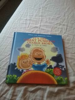 It's the great pumpkin Charlie Brown hard cover book