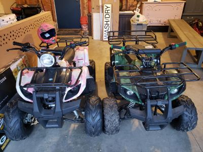 Green Kids ATV 125cc. $675 firm. Could use a newer battery.