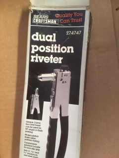 Craftsman Dual Position Riveter with Rivets
