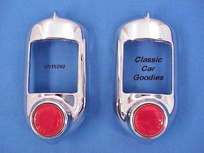 Find 1951-1952 Chevy Tail Light Housings Show Chrome. New! motorcycle in Aurora, Colorado, US, for US $54.99