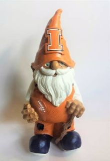 "NEW University of Illinois 11"" Football Fighting Illini Gnome Figurine"