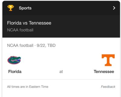 Looking for two tickets to TN vs FL on 9/22