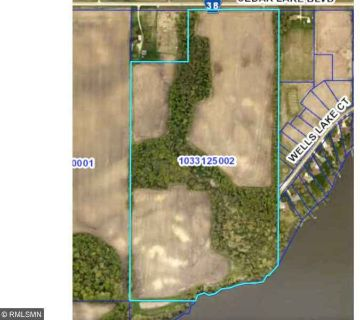 4480 Cedar Lake Boulevard Faribault, 74 Acres with Lakeshore