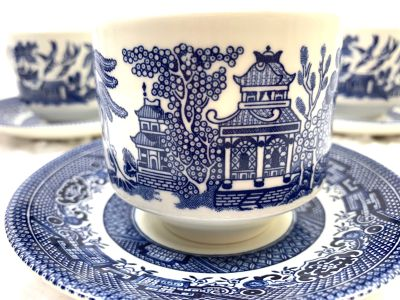 Blue Willow Tea/coffee Cup & saucer -Set