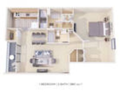 Fox Run Apartments & Townhomes - One BR Two BA