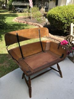 Antique western wagon seat made into a bench
