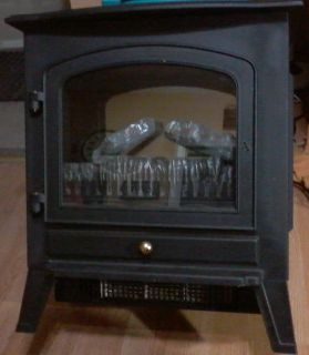 Plug in Space Heater With Artificial Burning Logs