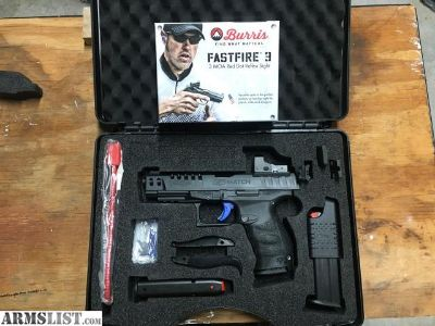 For Sale: Walther PPQ Q5 Match w/ Burris Fastfire 3