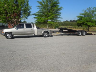 1998 Chevy Dually 3500 with 2014 Kaufman Tilt Trailer
