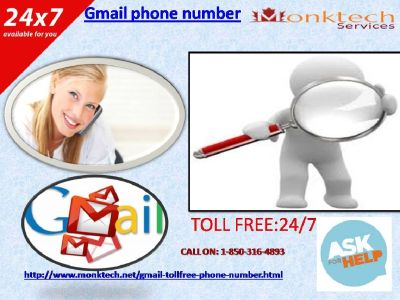 A Wide Variety of Service through Gmail Phone Number@ 1-850-316-4893