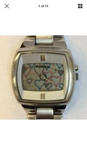 1990s Fossil watch changing hearts new battery