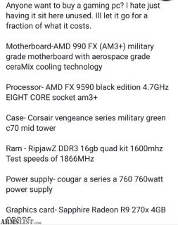 For Sale/Trade: Gaming PC