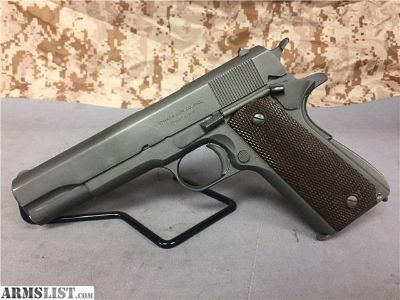 For Sale: PENNY! COLT/ITHACA 1911A1 45ACP MFD 1943 NICE!!!