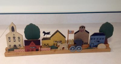 LONG WOODEN COUNTRY DECOR