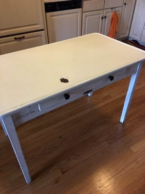 Vintage Hoosier Metal Kitchenette Table