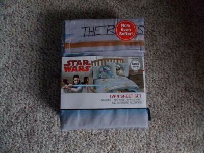 new disney star wars the force is strong gray blue 3 piece twin sheet set