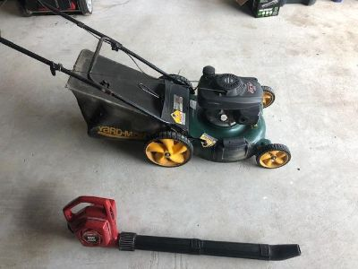 Lawnmower and Blower