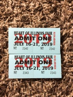 Heart Of Illinois Fair Tockets selling as a set