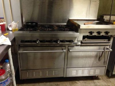 Commercial 6burner stove griddle 2ovens