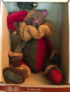 Classic Treasures Collectable Hand-Carved Wooden Teddy