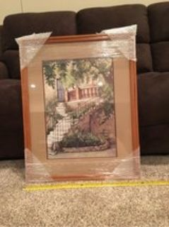 beautiful picture framed & double matted