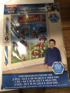 New in package! Paw Patrol wall decoration