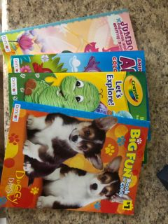 Lot 4 NEW coloring books