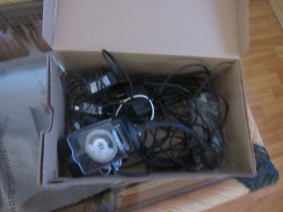 box of different wires & more
