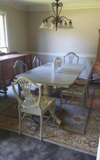 Antique Duncan Phyfe Dining Table & 6 Chairs