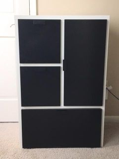 Nice Black & White Chest with Lots of Storage Space