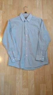 Chaps Shirt Size 14 In Good Cond. Small Hole on Bottom Back of Shirt See Pictures Smoke Free