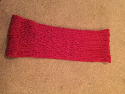 Red infinity scarf - NWOT - Thick and soft