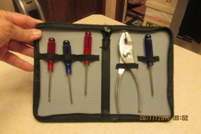 New Handy Tool Set w/Case - Great For Glove Box!
