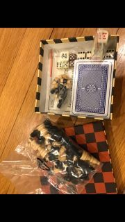 Small game set. Chess checkers , cards, backgammon new