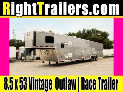 8.5x53 Vintage Outlaw Living Quarters Trailer