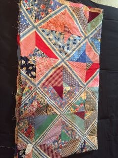 Unfinished Strip quilt top