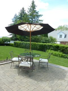 Brown Jordan Patio Table and Chairs w/Umbrella