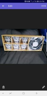 BRAND NEW NEVER OPENED 12 PIECE ESPRESSO CUP AND SAUCER SET
