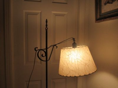 stand up lamp with adjustable light moves up & down