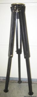 "TRIPOD - Hardwood/Brass - Heavy Duty 23 to 40"" - 5 "" Table - Military -"