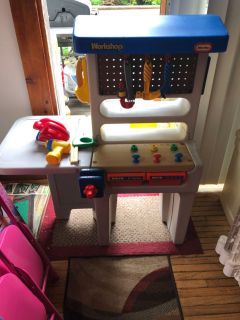Vintage little tikes tool bench
