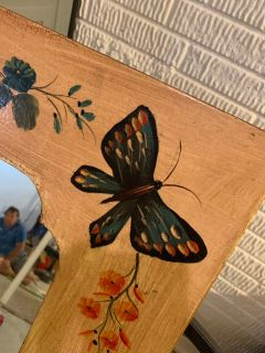 Antique butterfly mirror