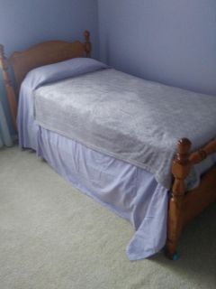 Handcrafted vintage twin bed